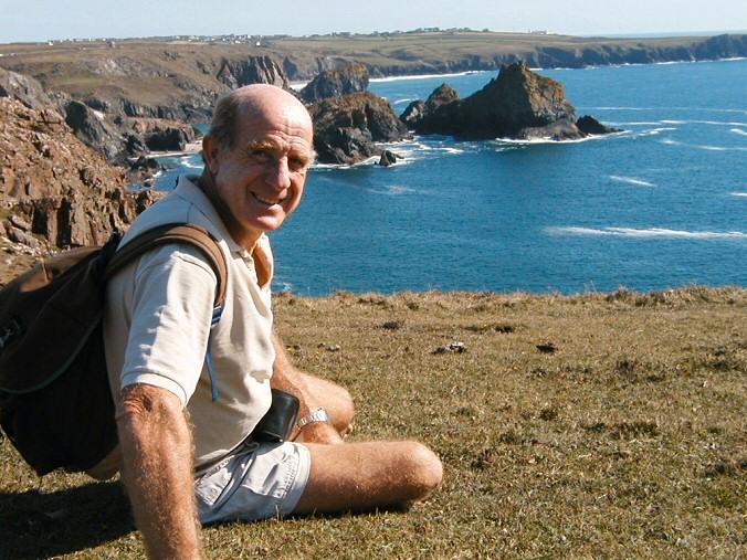 Peter George Collins on the Cornish coastal path.